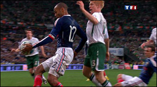 Thierry Henry's blatant hand ball